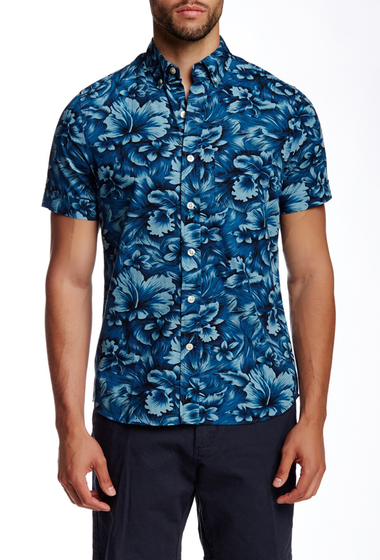 Imbracaminte Barbati Kennington Floral Print Woven Short Sleeve Shirt SEA