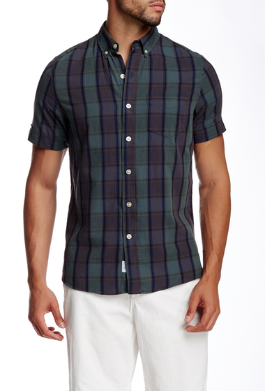 Imbracaminte Barbati Kennington Plaid Print Woven Short Sleeve Shirt MINT