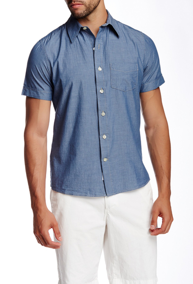 Imbracaminte Barbati Kennington Woven Short Sleeve Shirt INDIGO