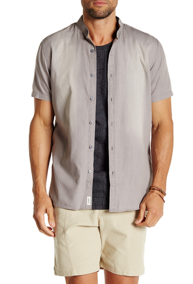 Imbracaminte Barbati Civil Society Luther Short Sleeve Shirt GRAY