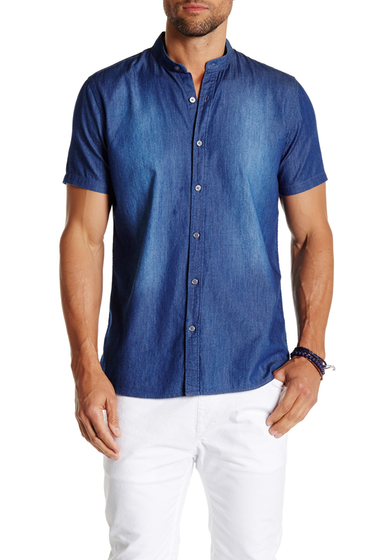 Imbracaminte Barbati Civil Society Luther Short Sleeve Shirt INDIGO