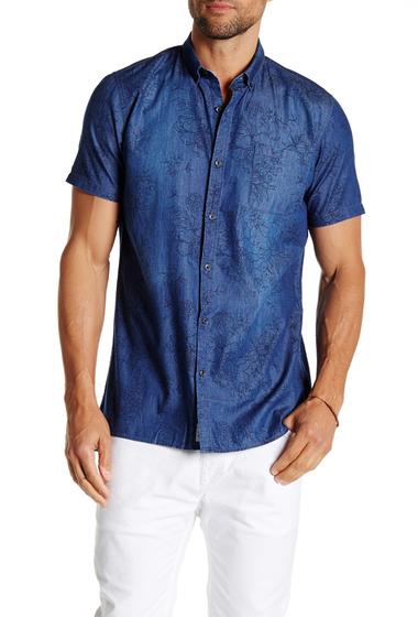 Imbracaminte Barbati Civil Society Moses Short Sleeve Shirt INDIGO