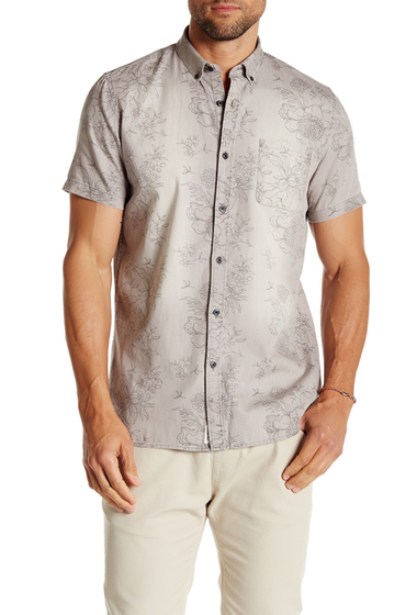 Imbracaminte Barbati Civil Society Moses Short Sleeve Shirt GRAY