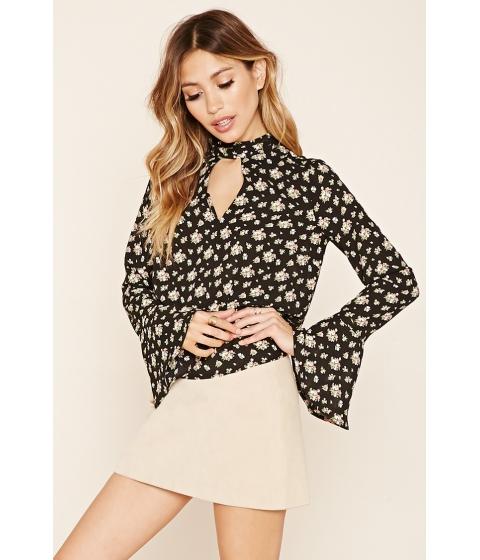 Imbracaminte Femei Forever21 Chiffon Floral Top Blackgreen