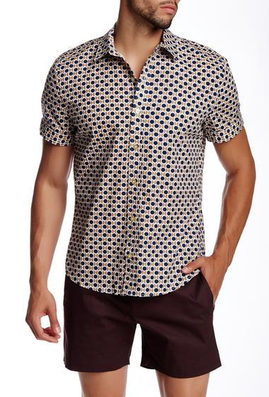 Imbracaminte Barbati Parke Ronen Concorde Khaki Print Short Sleeve Shirt CONCORDE KHAKI
