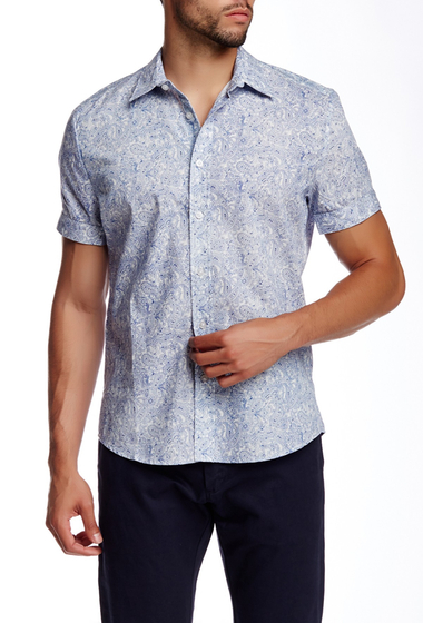 Imbracaminte Barbati Parke Ronen Bandana Paisley Print Short Sleeve Shirt WHITE