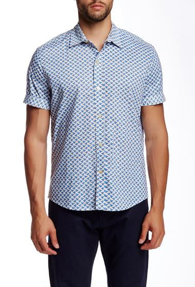 Imbracaminte Barbati Parke Ronen Clover Field Print Short Sleeve Shirt IVORY