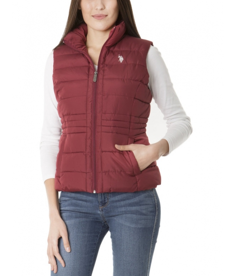 Imbracaminte Femei US Polo Assn Sherpa Lined Hooded Vest RUMBA RED
