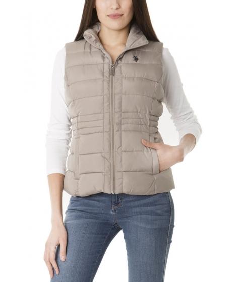 Imbracaminte Femei US Polo Assn Sherpa Lined Hooded Vest MOONROCK