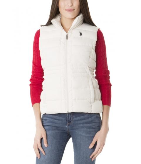Imbracaminte Femei US Polo Assn Sherpa Lined Hooded Vest Oatmeal