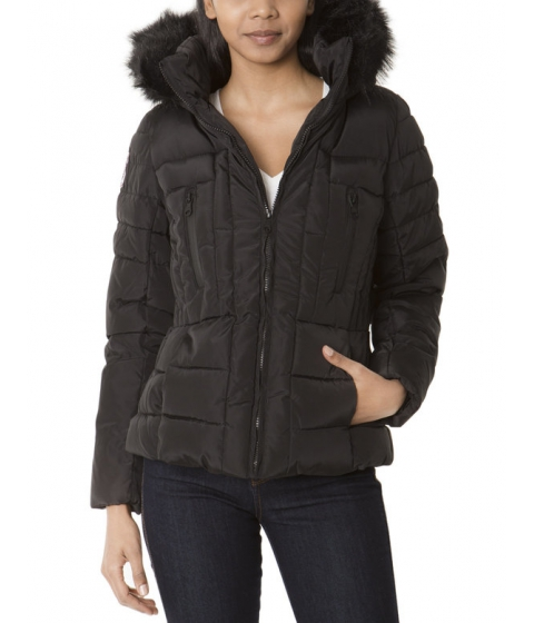 Imbracaminte Femei US Polo Assn Fur Hooded QUilted Jacket Black
