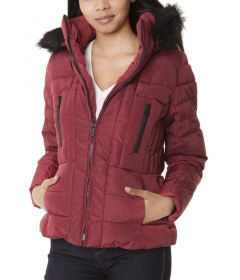 Imbracaminte Femei US Polo Assn Fur Hooded QUilted Jacket RUMBA RED