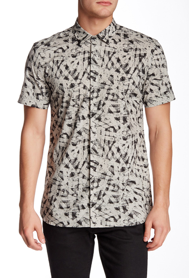 Imbracaminte Barbati Antony Morato Cement Abstract Print American Fit Shirt 2039CEMENT