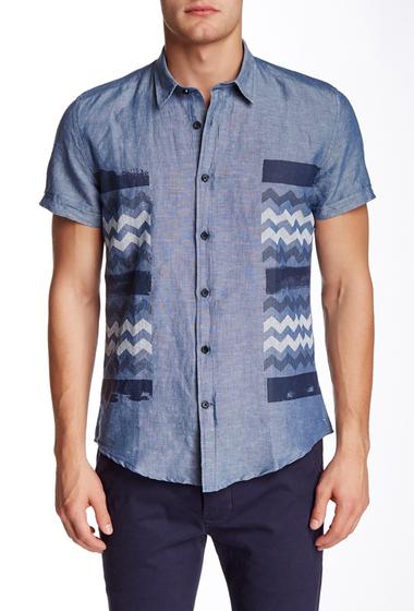 Imbracaminte Barbati Antony Morato Chevron Slim Fit Shirt 7039BLUE