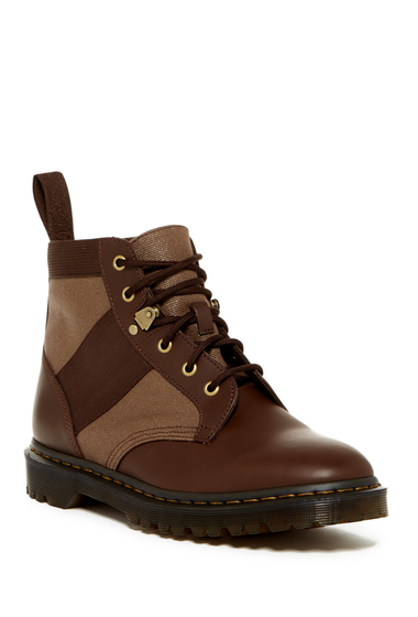 Incaltaminte Barbati Dr Martens Beam Waxy Work Boot Unisex DARK BROWN-TAN