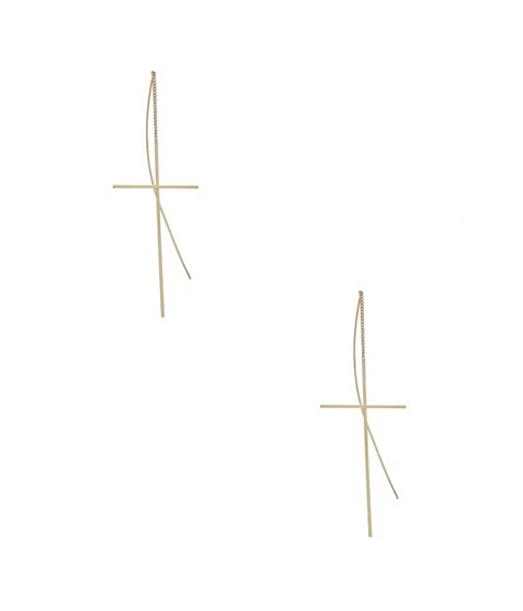 Bijuterii Femei GUESS Cross Threader Earrings gold