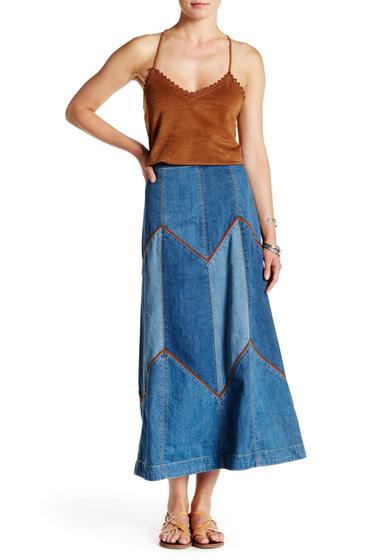 Imbracaminte Femei Free People Bliss Made A-Line Denim Skirt DENIM BLUE