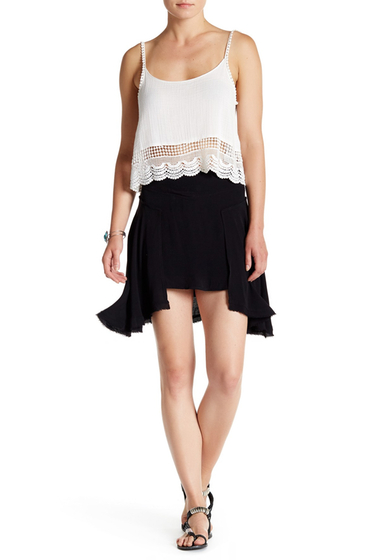 Imbracaminte Femei Free People New York Frayed Asymmetric Skirt BLACK