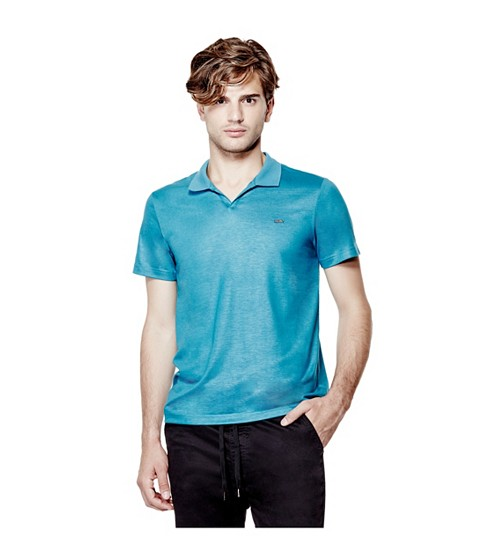 Imbracaminte Barbati GUESS Accius Coated Polo bermuda blue