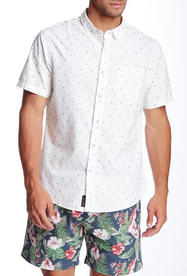 Imbracaminte Barbati JACHS Doby Pop-A-Dot Short Sleeve Classic Fit Shirt WHITE