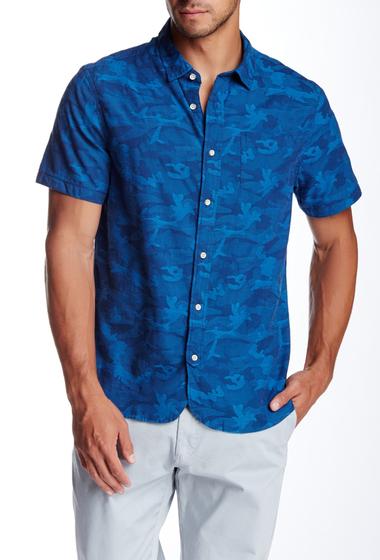Imbracaminte Barbati JACHS Jacquard Short Sleeve Classic Fit Shirt INDIGO
