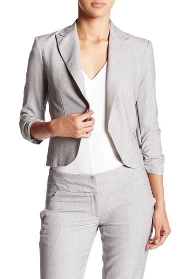 Imbracaminte Femei Amanda Chelsea Ruched Sleeve Blazer Petite GREY