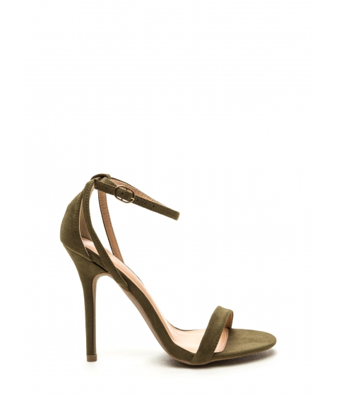 Incaltaminte Femei CheapChic Hold On Faux Suede Ankle Strap Heels Olive