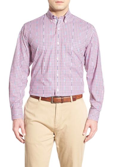 Imbracaminte Barbati TailorByrd Tulip Regular Fit Check Sport Shirt Big Tall FUCHSIA