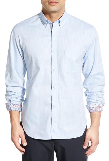 Imbracaminte Barbati TailorByrd Lilac Regular Fit Long Sleeve Sport Shirt Big Tall LIGHT BLUE