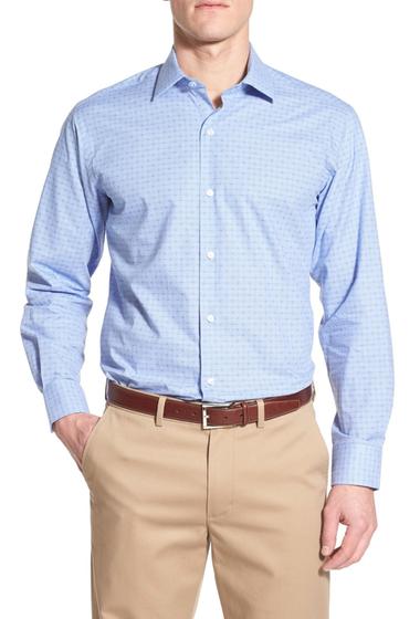 Imbracaminte Barbati TailorByrd Salvia Regular Fit Print Sport Shirt Big Tall BLUE