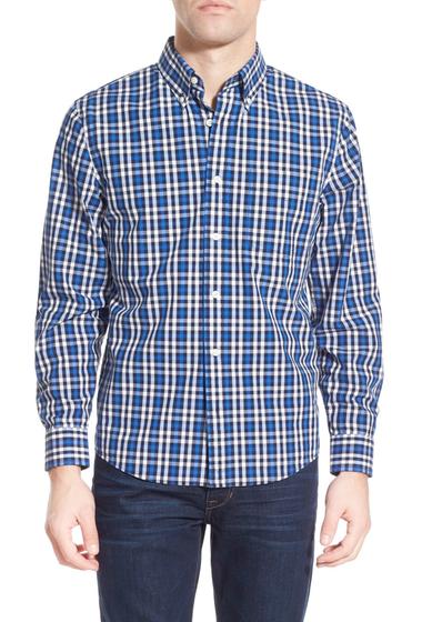 Imbracaminte Barbati Jack Spade Palmer - Check Trim Fit Sport Shirt BLUE