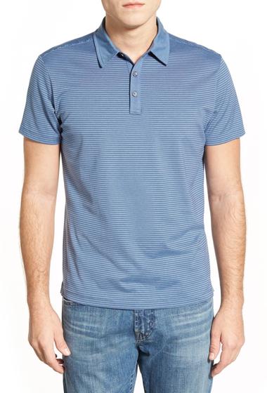 Imbracaminte Barbati ROBERT BARAKETT Russel Stripe Pima Cotton Polo GLOSSY BLUE