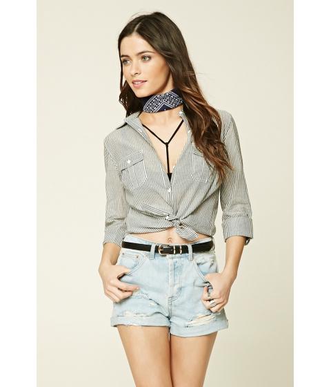 Imbracaminte Femei Forever21 Striped Pocket Shirt Black