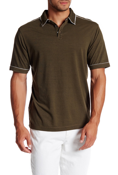 Imbracaminte Barbati Tommy Bahama Fray Day Short Sleeve Polo AGED OAK
