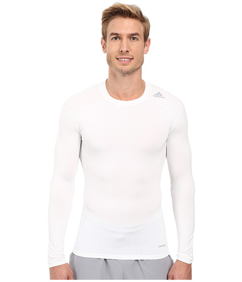 Imbracaminte Barbati adidas Techfit Base Layer Long Sleeve Tee White
