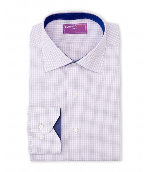 Imbracaminte Barbati Lorenzo Uomo Pink White Trim Fit Check Dress Shirt Pink White