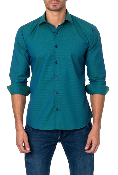 Imbracaminte Barbati Jared Lang Long Sleeve Printed Semi-Fitted Shirt GREEN