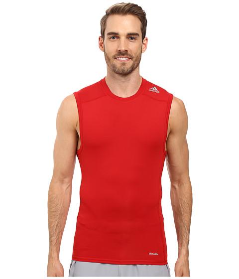 Imbracaminte Barbati adidas Techfit Base Layer Sleeveless Tee Power Red