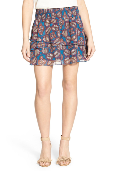 Imbracaminte Femei Chelsea28 Double Layer Miniskirt TEAL MEDALLION