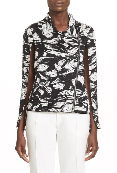 Imbracaminte Femei Yigal Azrouel Fringe Detail Print Cape Jacket JET-MULTI
