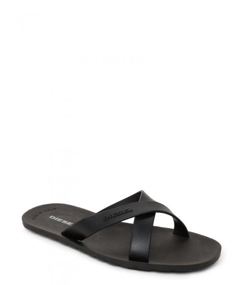 Incaltaminte Barbati Diesel Black Plaja Wash Open Toe Flip-Flops Black