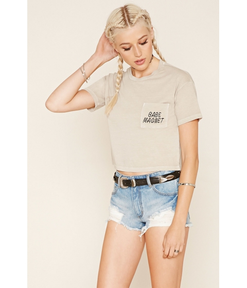 Imbracaminte Femei Forever21 Babe Magnet Graphic Tee Taupeblack