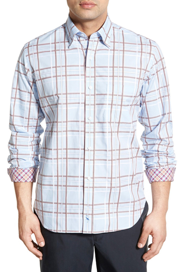 Imbracaminte Barbati TailorByrd Petunia Regular Fit Plaid Sport Shirt Big Tall LIGHT BLUE