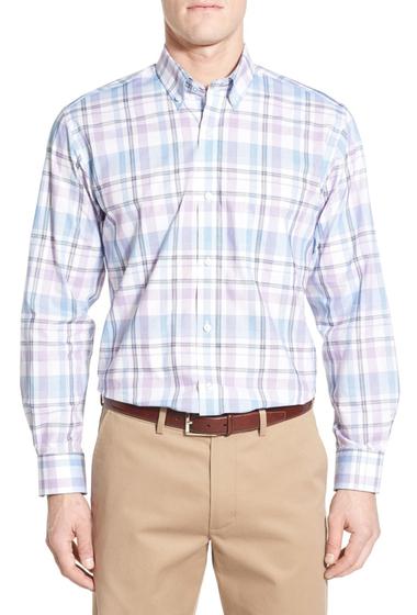 Imbracaminte Barbati TailorByrd Hawthorn Regular Fit Tattersall Sport Shirt Big Tall LAVENDER