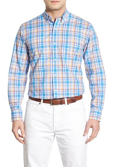 Imbracaminte Barbati TailorByrd Buckeye Regular Fit Long Sleeve Plaid Sport Shirt Big Tall ORANGE