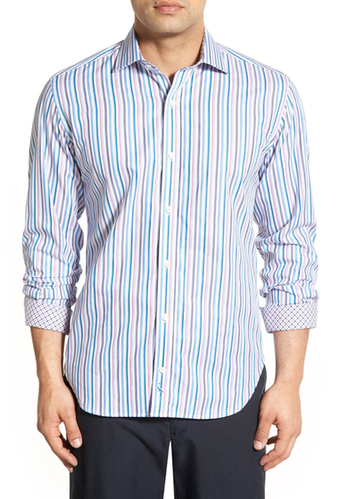 Imbracaminte Barbati TailorByrd Rosemary Regular Fit Stripe Sport Shirt Big Tall NAVY
