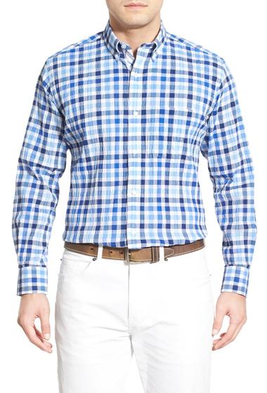 Imbracaminte Barbati TailorByrd Chestnut Regular Fit Check Sport Shirt Big Tall NAVY