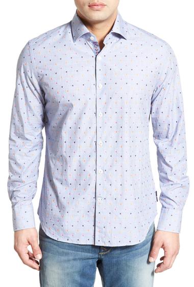 Imbracaminte Barbati Stone Rose Classic Fit Dobby Sport Shirt Big Tall ASH BLUE