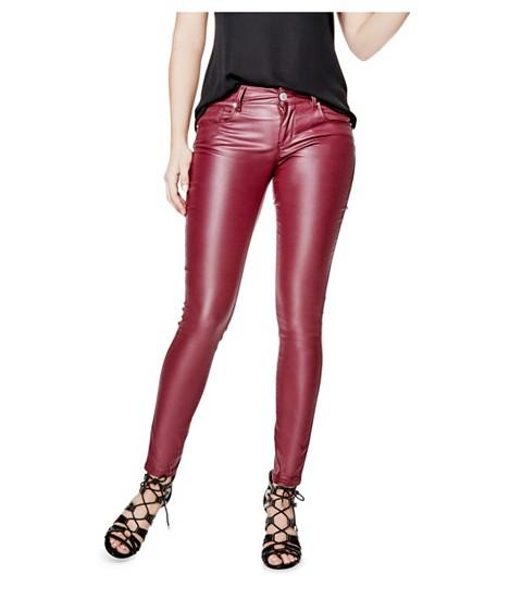 Imbracaminte Femei GUESS Lanori Coated Skinny Jeans midnight wine