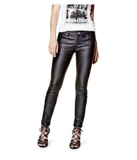 Imbracaminte Femei GUESS Lanori Coated Skinny Jeans jet black